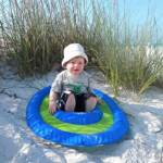 Gavin (1 1/2) enjoying Siesta Key Beach in one of our Toddler Spring Floats.